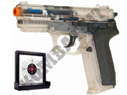 P226 Sig Sauer Airsoft BB Gun and Target Set Clear Official Replica